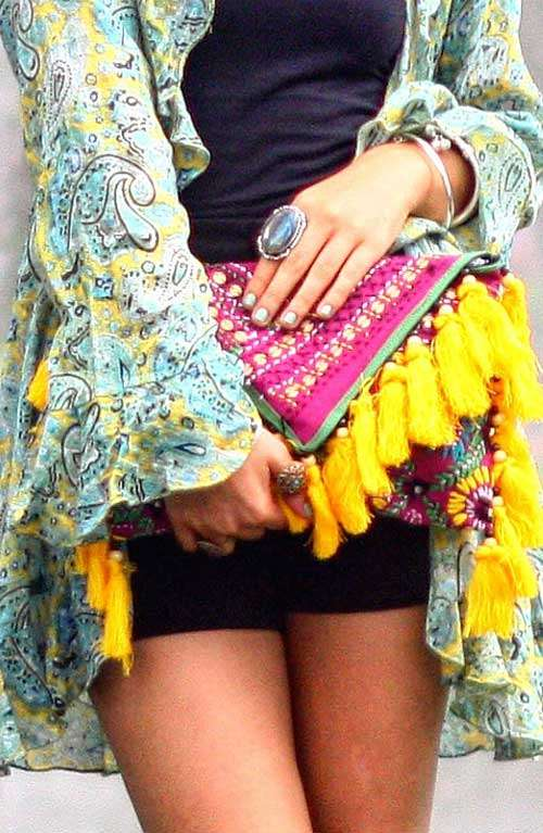 Offbeat Clutch - Shunshine Tassels
