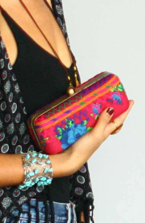 A boho gypsy style Indian fabric small hand stitched clutch bag ... 7d5bf9f96c696