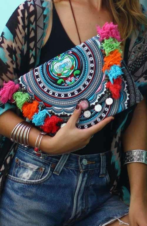 Kimmi Clutch - With Tassels
