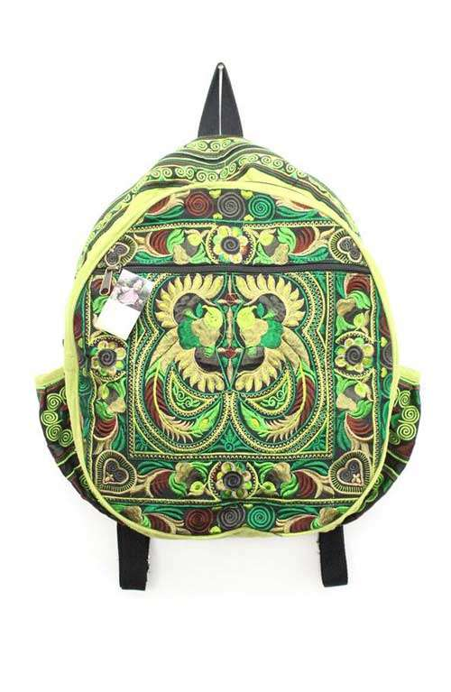 Backpack - Green Bird