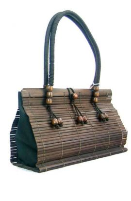 Upcycled Bamboo Shoulder Bag