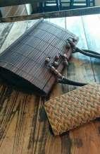 Upcycled Bamboo Shoulder Bag
