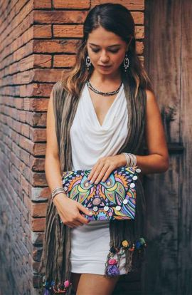 Colorful Design Large Clutch