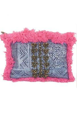 Kayla Clutch - Pink Tassels