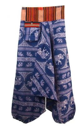 Boho Pants - Purple Thai Elephant