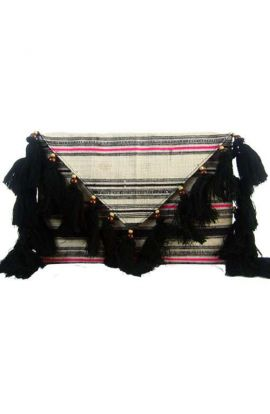 Offbeat Clutch - Black Tassels