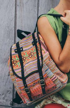Backpack - Orange Tribal