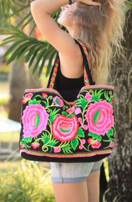 Pretty Boho Flower Shoulder Bag