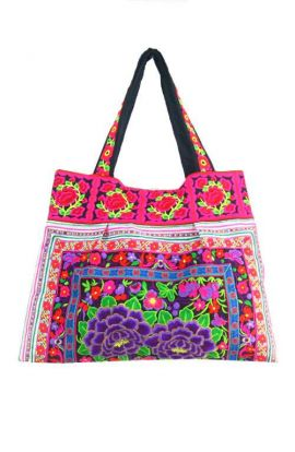 Purple Rose Sandy Beach Bag