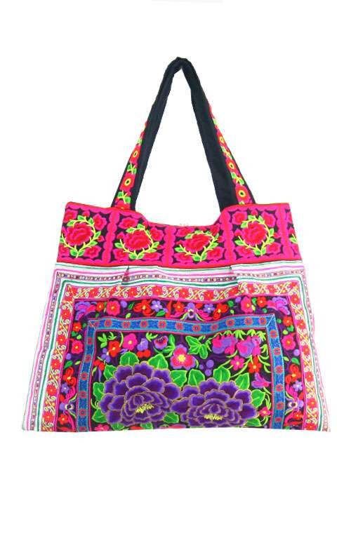 Sandy Beach Bag - Purple Rose