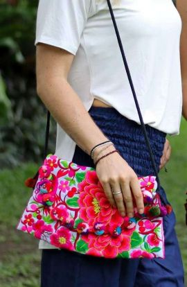 Cross Body Bag - Red Rose