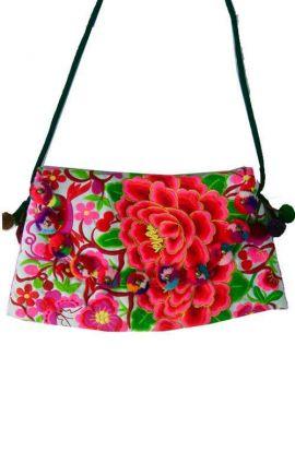 Cross Body Bag - Pom Pom Rose