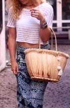 Trendy Vintage Fabric Handbag
