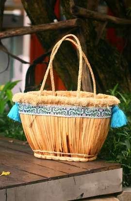 Straw Beach Bag - Vintage