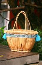 Straw Beach Basket Bag - Vintage