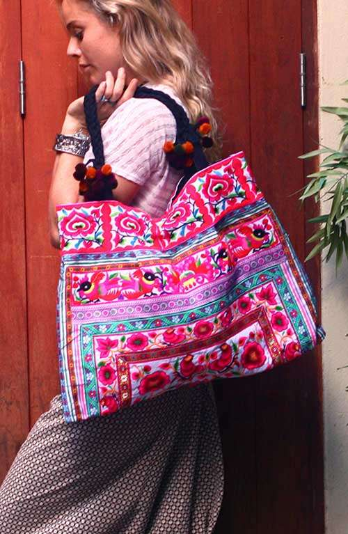 Embroidered Bohemian Colorful Tote Bag