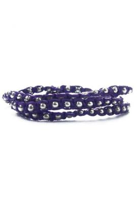 3 Wrap Bracelet - Purple