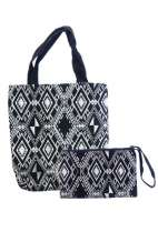 Embroidered Bag Set - Diamond