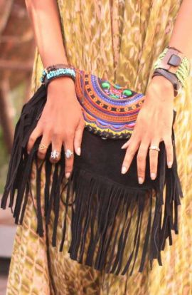 Sadie Fringe Bag - Black Tassels