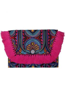 Kimmi Clutch - Hot Pink Tassel