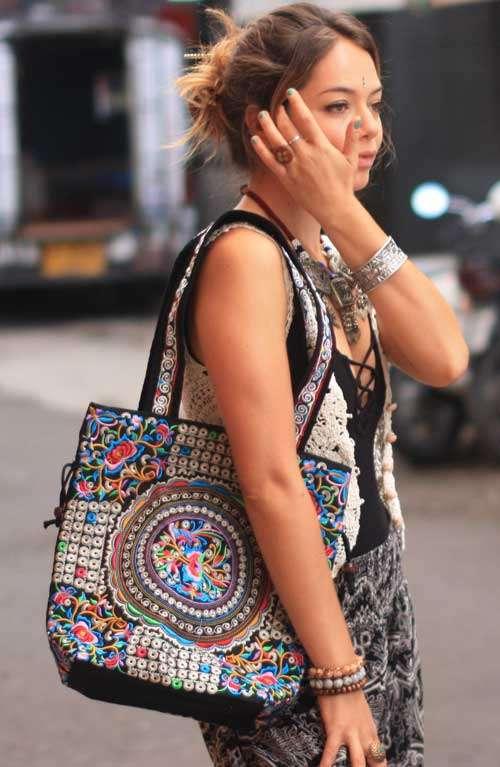 Shoulder Tote Bag - Hmong