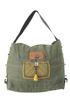 Shoulder Hemp Bag - Green