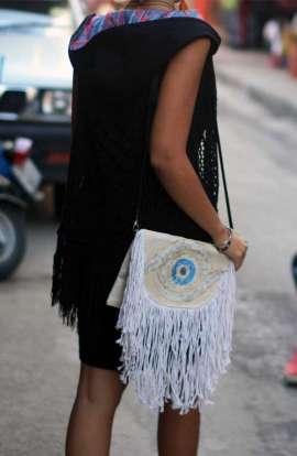 Evil Eye Fringe Bag