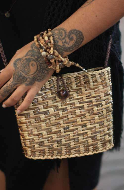 Cross Body Bag - Straw Woven
