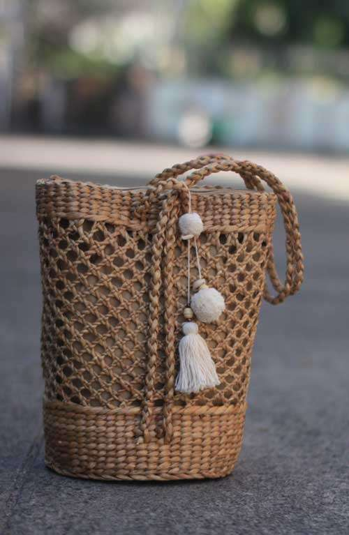 Boho Rattan Bag Backpack Sllingbag