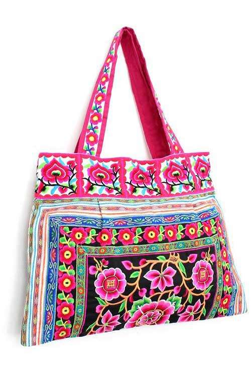 8fc1a2ab7be5 Pink Beach Bag - pink boho bag - Pink shoulder bag