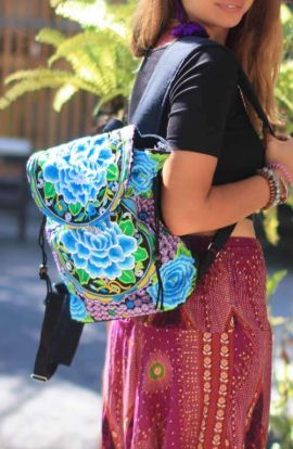 Festival Backpack - Blue Rose
