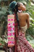 Yoga Mat Carrier - Pink Flower Garden