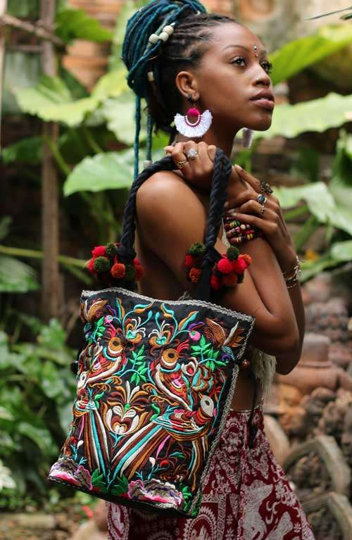 Bohemian Shoulder Bag - Hmong Garden