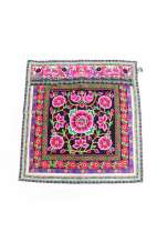Embroidered Textile - Pink