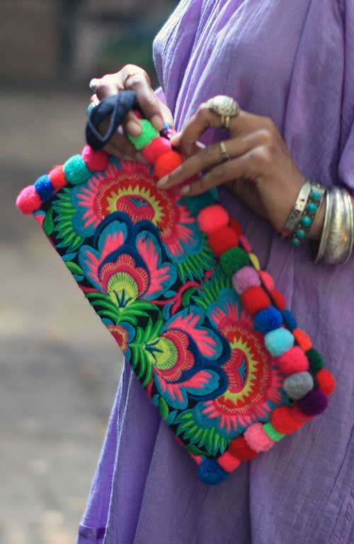 Lou Lou Clutch - Colourful Flower