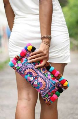 Lou Lou Clutch - Multi Bird