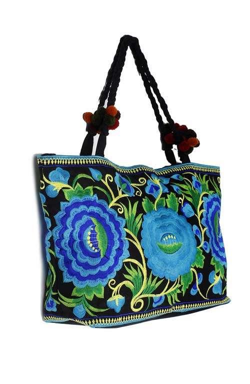 Shoulder Tote Bag - Blue Lipstick