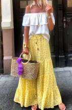 Large Straw Bag - Tassel