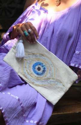 Evil Eye Clutch Bag