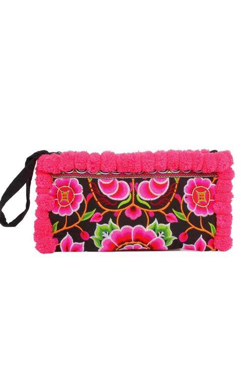 Lou Lou Clutch - Rose Vine