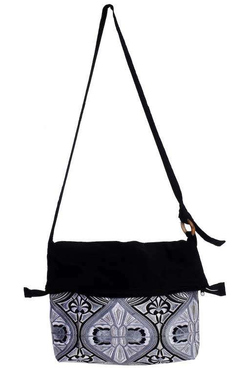Cross Body Bag - Silver Tahj