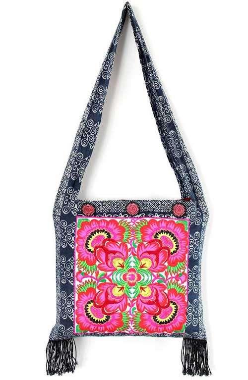 Cross Body Bag - Batik Flower