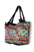 Shoulder Tote Bag - Peacock Garden