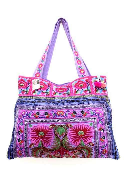 Sandy Beach Bag - Purple Flower
