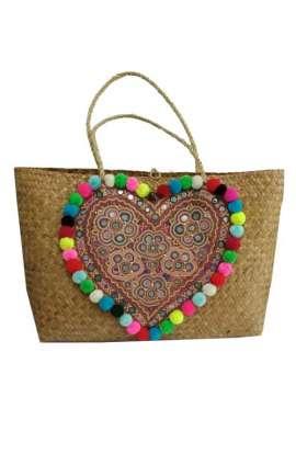 Basket Bag - Pink Braided