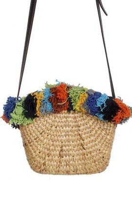 Cross Body Straw Bag - Tassel