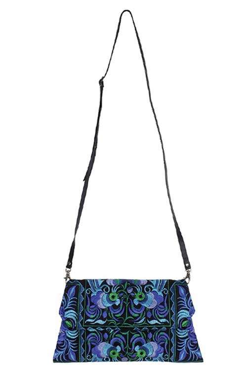 1f4b9afd5f Blue and black crossbody bag - Blue and black boho bag - Blue and ...