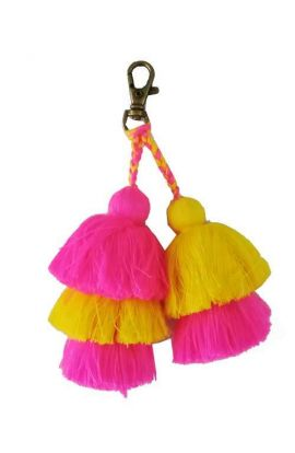 Colorful Pom Pom Key Chain Accessory