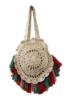 Soft Straw Tassel Bag