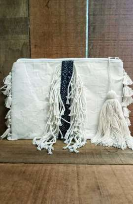 Large Purse - Batik Tassel